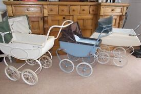 Vintage prams. Three chidrens prams, all absolutely adorable!!!!!