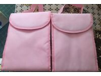 2 Pink Lunch Bags