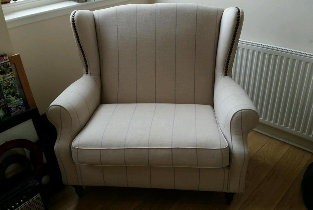 Large cream next chair for sale in gourock inverclyde for Big chairs for sale