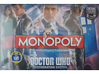 Doctor Who Regeneration Monopoly Game - new