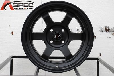 16x8 Rota GRID V 5x114.3 +20 Flat Black Wheels (Set of 4)