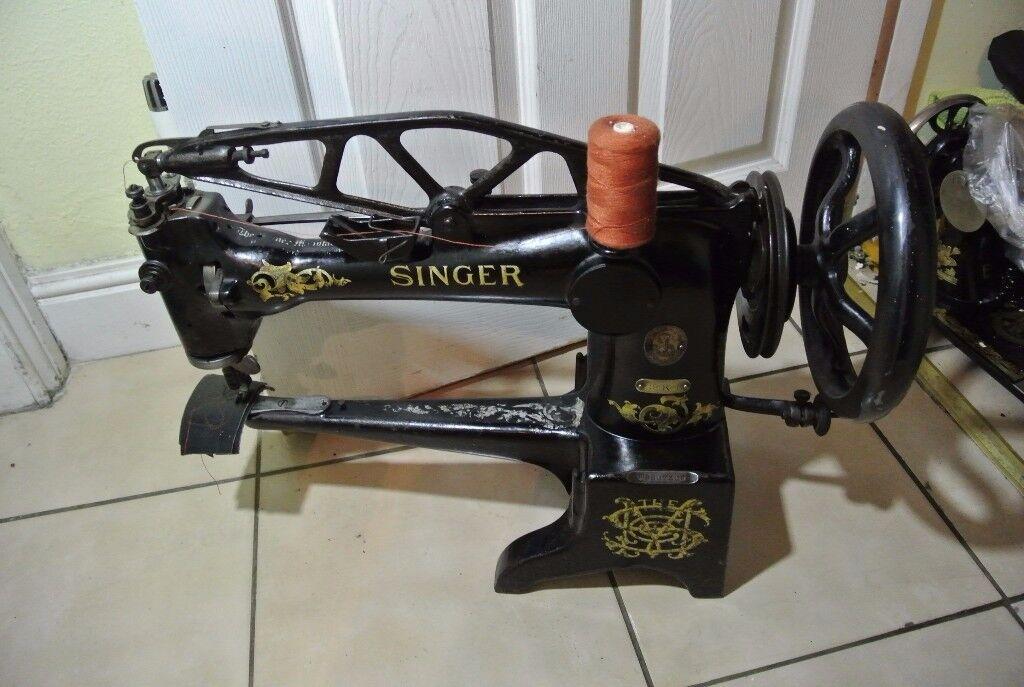 Singer 40K40 Cylinder Arm Cobblers Walking Foot Industrial Sewing Extraordinary Singer Walking Foot Industrial Sewing Machine