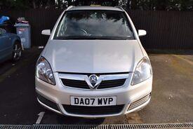 Vauxhall Zafira 07 1.6 energy 7 seats low mileage, 1 year MOT