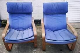 2 X Blue Rocking Chairs