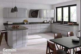 Handle less Gloss Kitchen offer £1395.00 (3 colours) including Delivery