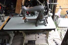 SINGER 45K89 HEAVY DUTY Industrial Machine(4 LAYERS VEG TAN SAMPLE SEWN