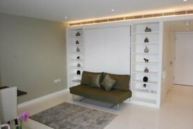 Modern studio apartment on the 9th floor of Pan Peninsula's West Tower E14, GYM, £335PW - SA