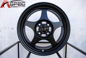 15x8 Rota SLIPSTREAM 5x114.3 +40 Flat Black Wheels New Set