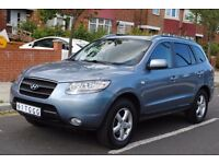 LHD LEFT HAND DRIVE HYUNDAI SANTA FE 7 SEATER 09/2006 AUTOMATIC, SAT NAV , XENON, LEATHER LOADED