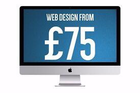 WordPress Web Design from £75