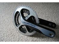 Shimano Dura Ace 9000 172.5 mm 50 34 Compact Road Race Chainset / Crankset