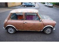 1989 Austin Mini Racing Flame *** RESTORATION PROJECT *** NON DRIVER *** for spares or parts