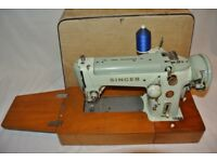 Singer 320K Cylinder Arm Semi Industrial Heavy Duty Zigzag Freehand Embroidery Machine