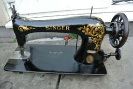 SInger 16K25 wheel feed, roller presser, LEATHER Sewing machine(1908)