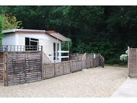 Vacant now Chalet+ Quiet Park home £250 pw for 1 weeks holiday New Forest National Park free wi fi.