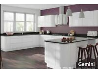 Handle less white gloss kitchen £1395.00 including appliances