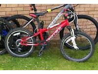 "Kids Bike Carrera Blast Mountain Bike 20"" Red"