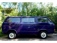 VW VOLKSWAGEN T25 T3 CAMPER VAN - 13 MONTH MOT (EXP. END OCT 2017) - TWIN SLIDER - 1.9 WBX PETROL