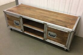 Industrial Style, Mango Wood, TV Unit. New & Boxed