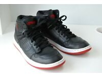 Nike Air Jordan Access Black and Gym Red Basketball Boots Trainers Size UK 9 EUR 44