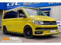 """VW Transporter T6 Alloy Wheels 20"""", Sportline Bumper and Lower Splitter"""