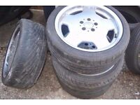 "AMG style MERCEDES 18"" alloy wheels 2 ( 225/40-18 ) +2 ( for repairs - free )"