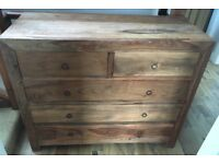 Solid Wood Large Chest of Drawers (5 Drawers)