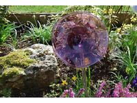 Purple Glass Flower - BUY 2 FOR THE PRICE OF 1