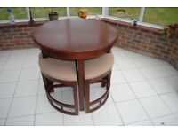 Round Dinning Table for 4