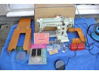 Singer 320K Cylinder Arm Semi Industrial Heavy Duty Zigzag Freehand Embroidery Machine