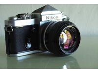 Nikon F2 Classic SLR Camera and Lenses