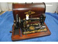 Antique Victorian SINGER 48K Sewing Machine with Case.