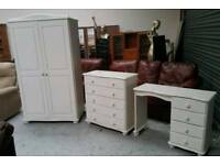 Shabby chic 3 piece bedroom furniture set can deliver 07808222995
