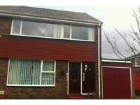 3 bed semi detached house with gardens and garage to rent in stakeford