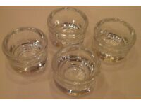 4 Unused Glass Egg Cups in Very Good Condition