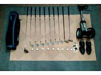 Beginners Golf Club Set with Nike Golf shoes