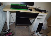 Ikea computer desk and foldable chair