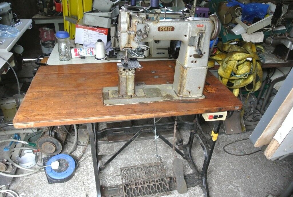 Pfaff Twin Needle Postbed Needle Feed Walking Foot Industrial Fascinating Pfaff Walking Foot Sewing Machine