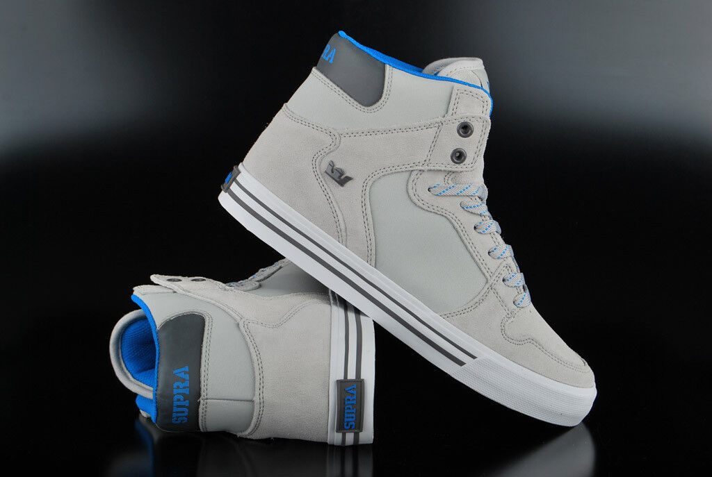 Volle Farben Skate Schuhe Frauen Supra Cuttler Grau white Grau