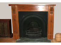 Cast Iron Period Fireplace with Solid Wood Surround £250