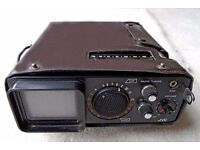 """Vintage Portable Television (JVC P100UKC) 2"""" Highly Collectible and Rare"""