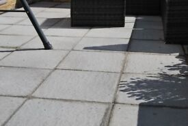 35 x brand new Patio paving slabs light grey 450x450 plus load of sharp sand