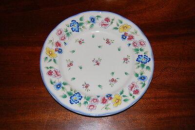 SUPERB VINTAGE LAURA ASHLEY HAZELBURY FLOWER DECORATED SNACK TEA CABINET PLATE 3