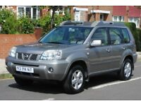 LHD LEFT HAND DRIVE NISSAN X-TRAIL 12/2004 4x4 OUTDOOR PANORAMA,PDC, DVD, SAT-NAV ,AC,LOADED
