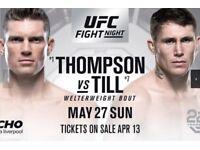 UFC Liverpool Row E Floor Seats x 2!!! TICKETS IN HAND