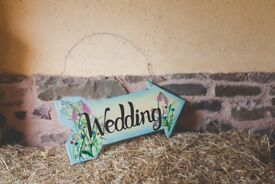 Wedding and Bar sign
