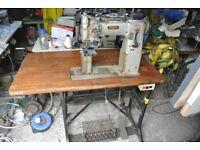 Pfaff Twin Needle Postbed , Needle Feed Walking Foot Industrial Sewing Machine
