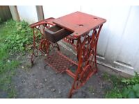 Singer Vintage 29K Leather Patcher/Cobbler Industrial Sewing MachineTable/Stand with Drawer