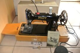 Pfaff 30 Electric sewing machine with attachments, See 4 Layers of leather sewn