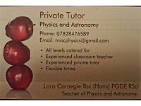 Physics Tutor - experienced classroom teacher